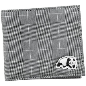 Enjoi Panda plaid grey wallet