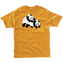 Load image into Gallery viewer, Enjoi Piggyback Pandas orange T shirt