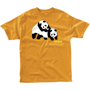 Enjoi Piggyback Pandas orange T shirt