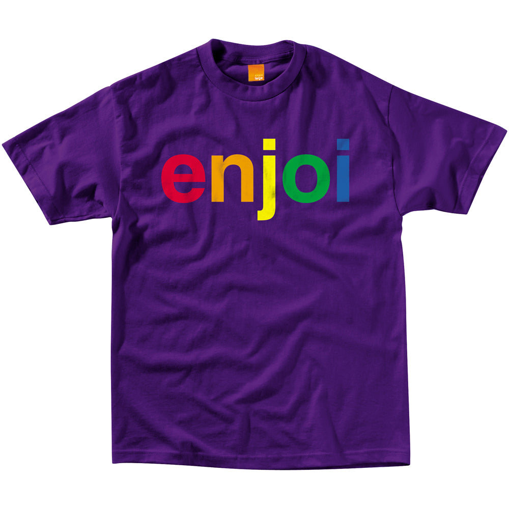 Enjoi Spectrum purple T shirt