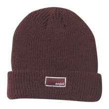 Load image into Gallery viewer, Enjoi Tuff Guy burgundy beanie