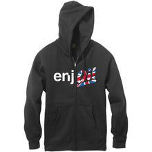 Load image into Gallery viewer, Enjoi Oi! black zip-up hood