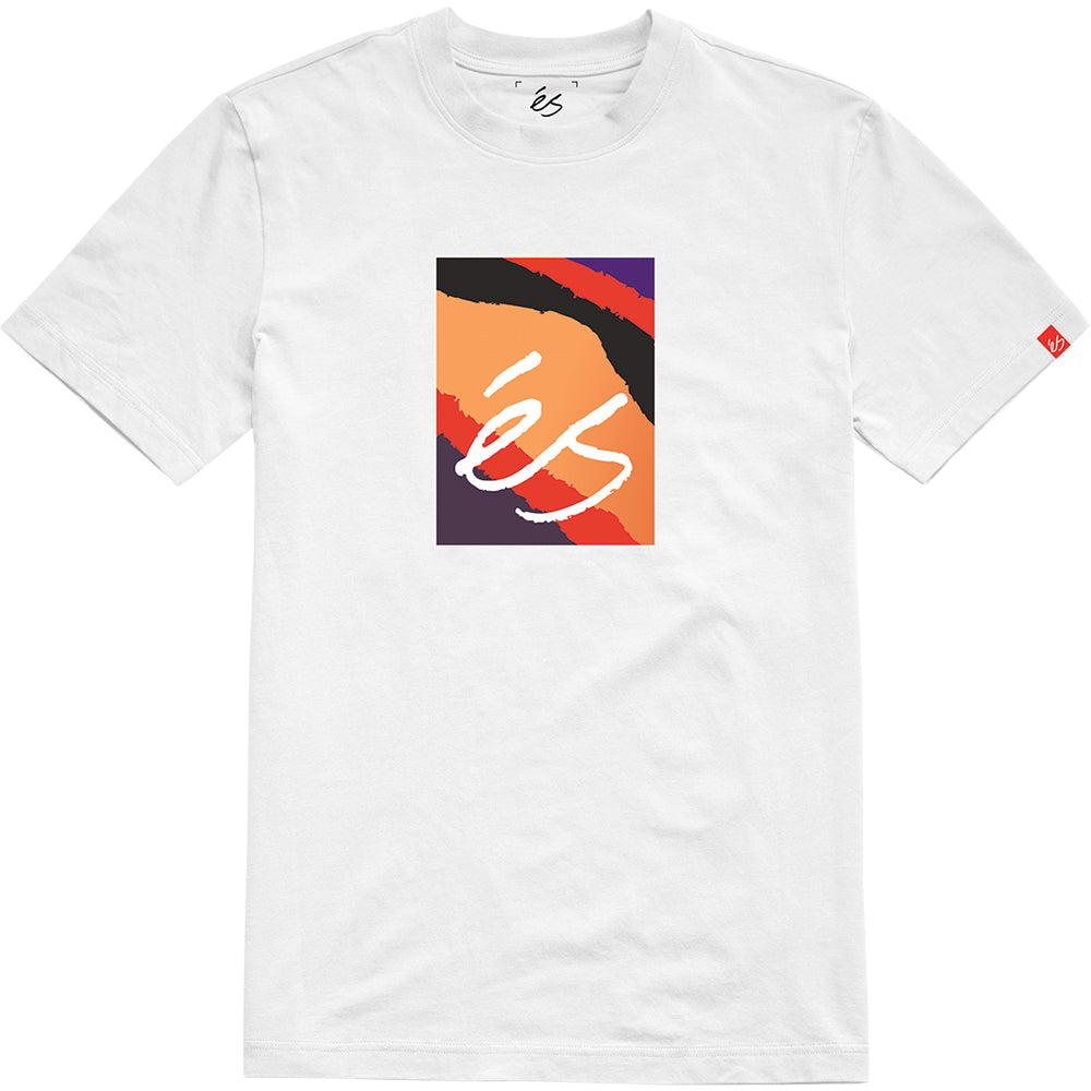 éS Main Block Symbol T shirt white