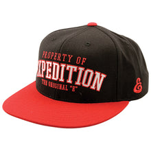 Load image into Gallery viewer, Expedition Property Starter black snapback cap