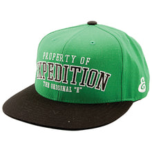 Load image into Gallery viewer, Expedition Property Starter green snapback cap
