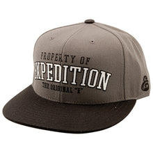 Load image into Gallery viewer, Expedition Property Starter grey snapback cap
