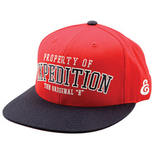 Load image into Gallery viewer, Expedition Property Starter red snapback cap