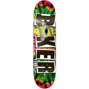 "Baker Figgy icon green tie dye 8.25"" deck"