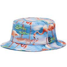Load image into Gallery viewer, RIPNDIP Flamingo blue bucket hat