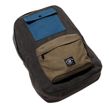 Load image into Gallery viewer, Fourstar Tri-Tone Canvas Label olive backpack
