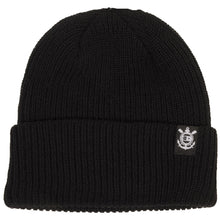 Load image into Gallery viewer, Fourstar Anchor Label Fold black beanie