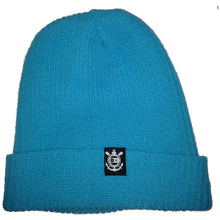 Load image into Gallery viewer, Fourstar Anchor Label Fold turquoise beanie