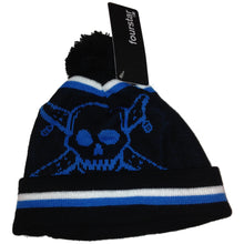 Load image into Gallery viewer, Fourstar Pirate Chain navy pom pom beanie