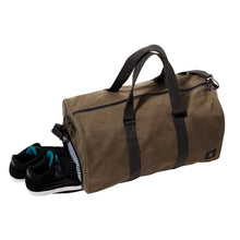 Load image into Gallery viewer, Fourstar Tri-Tone Canvas Label olive duffel bag