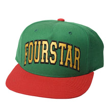 Load image into Gallery viewer, Fourstar Four-Starter Snapback red/green/yellow cap
