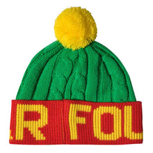 Load image into Gallery viewer, Fourstar Pom Pom green/yellow/red beanie