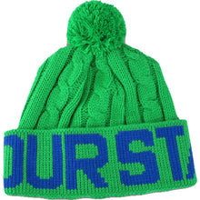Load image into Gallery viewer, Fourstar Pom Pom green/royal blue beanie