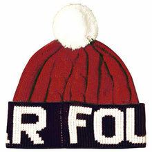 Load image into Gallery viewer, Fourstar Pom Pom red/white/blue beanie