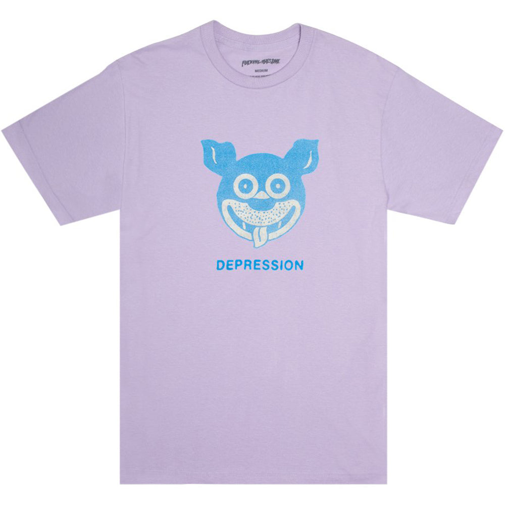 Fucking Awesome Depression T shirt orchid