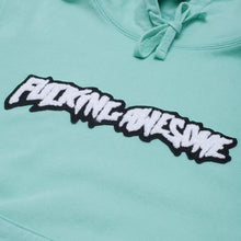 Load image into Gallery viewer, Fucking Awesome Garment Dyed Chenille Logo Hoodie seafoam