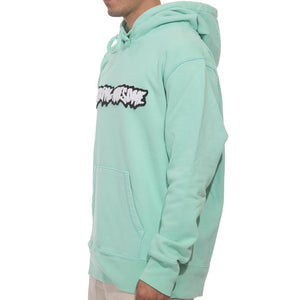 Fucking Awesome Garment Dyed Chenille Logo Hoodie seafoam