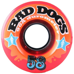 Girl Bad Dogs red 58mm wheels