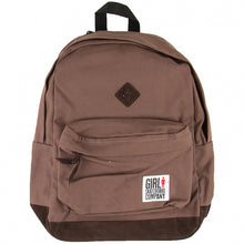 Load image into Gallery viewer, Girl Simple Canvas brown backpack