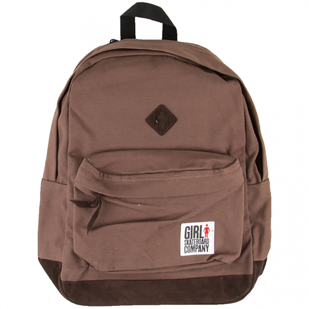 Girl Simple Canvas brown backpack
