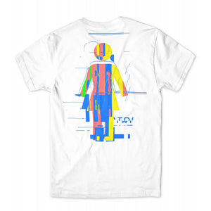 Girl Glitch Mode white T shirt