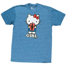 Load image into Gallery viewer, Girl Hello Kitty 2 heather blue T shirt