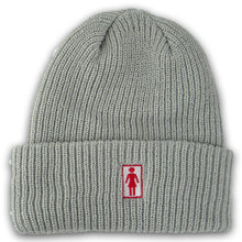 Load image into Gallery viewer, Girl OG Folded grey beanie