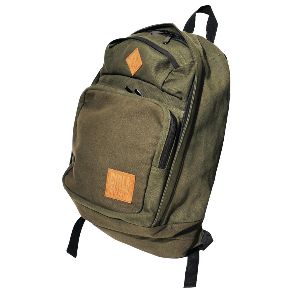 Girl Simple Canvas Backpack green