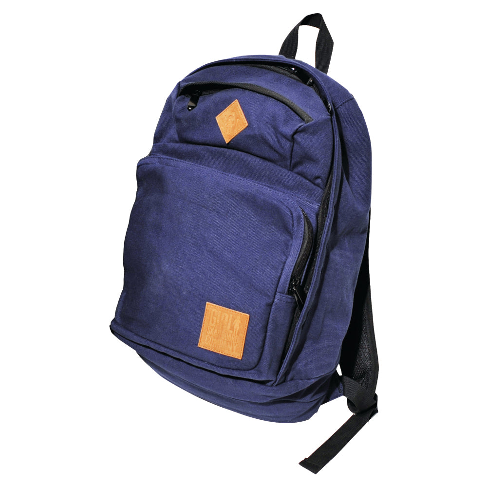Girl Simple Canvas Backpack blue