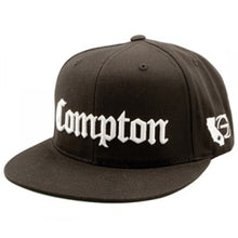 Load image into Gallery viewer, Gold Compton Starter black snapback cap