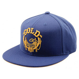 Gold Lifted royal snapback cap