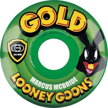 Load image into Gallery viewer, Gold Looney Rabbit Marcus McBride 50mm Wheels
