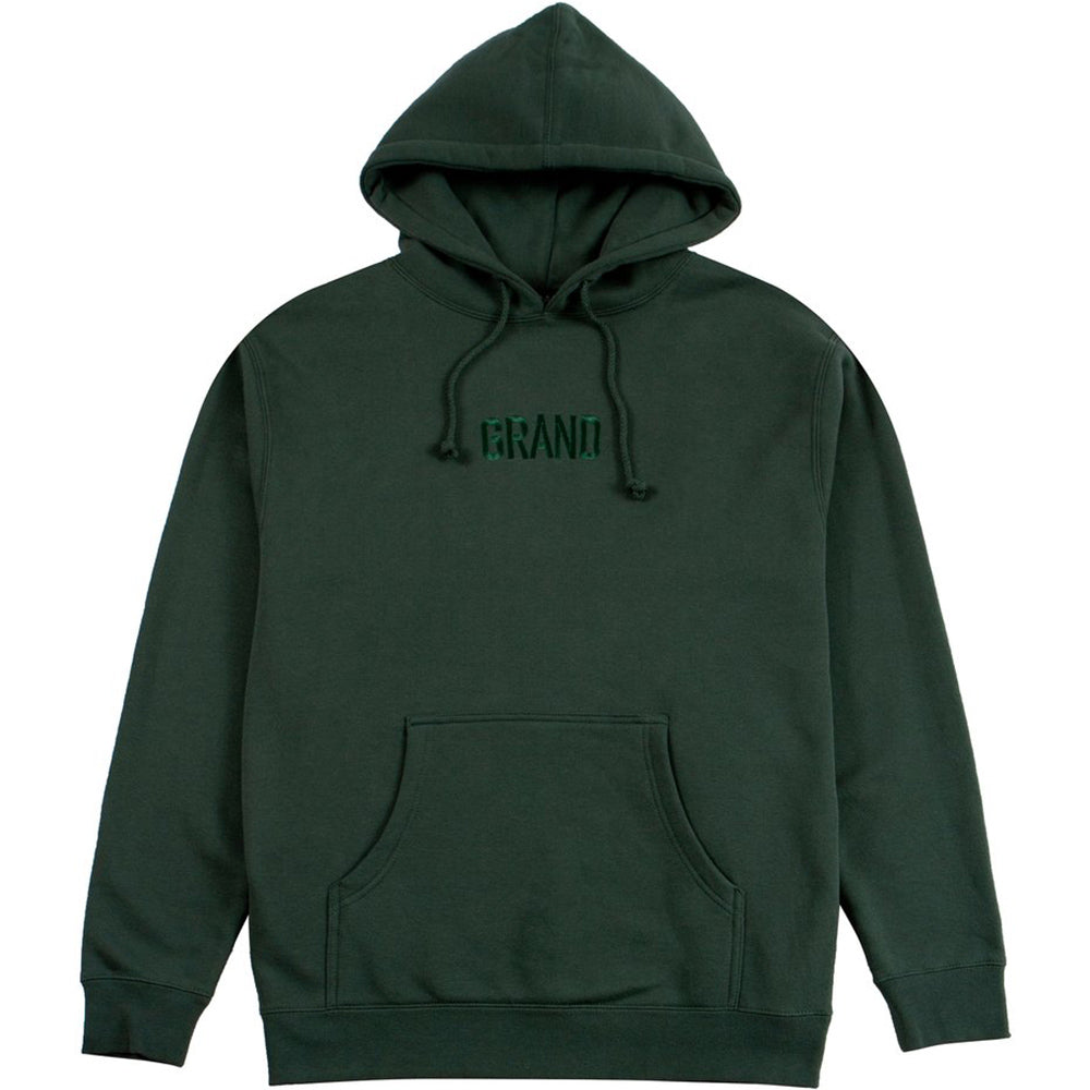 Grand Tonal Embroidered hoodie forest