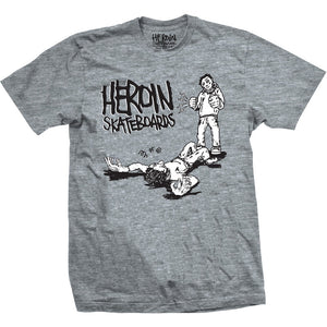 Heroin K.O grey T shirt