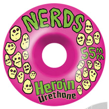 Load image into Gallery viewer, Heroin Nerds 52mm pink wheels