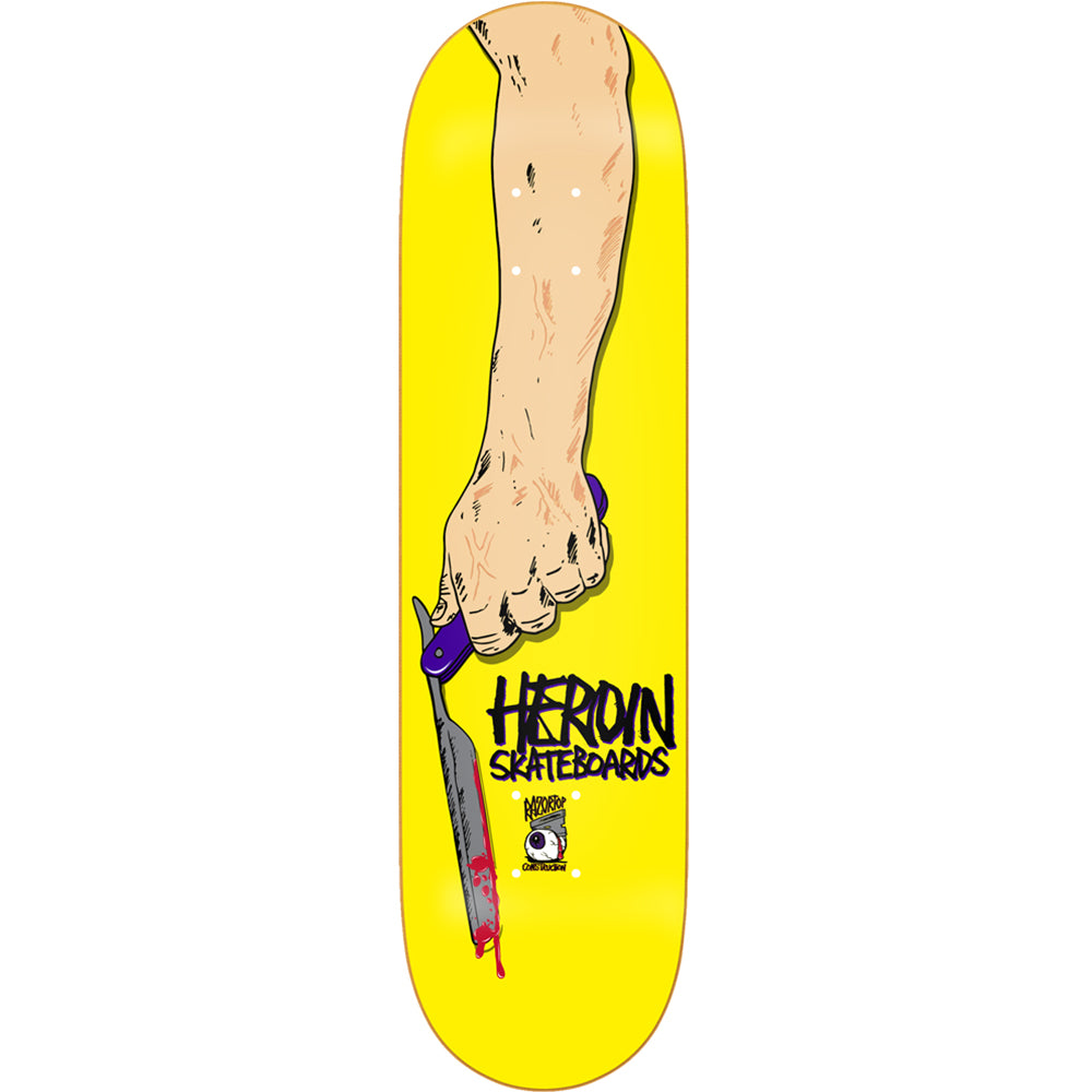 Heroin Razortop Yellow deck 8.5