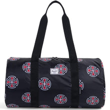 Load image into Gallery viewer, Herschel x Independent packabe duffel black/multi-cross