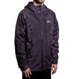HUF 10k black marble tech jacket