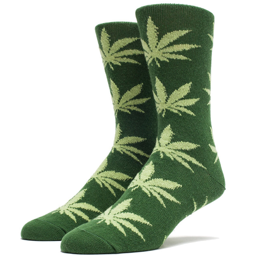 HUF Cashmere Plantlife dark green/light green socks