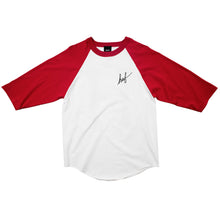 Load image into Gallery viewer, HUF Classic Script Baseball red/white T shirt