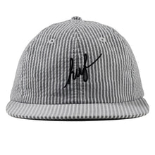 Load image into Gallery viewer, HUF Classic Script Seersucker black 6 panel cap