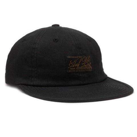 HUF Expedition waxed 6 panel green strapback cap