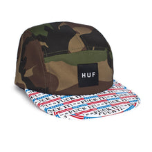 Load image into Gallery viewer, HUF Fuck It camo volley 5 panel cap