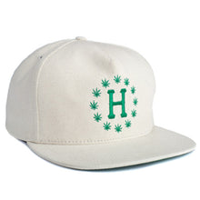 Load image into Gallery viewer, HUF x High Times natural hemp galaxy snapback cap