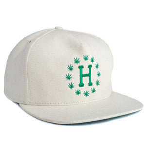 HUF x High Times natural hemp galaxy snapback cap