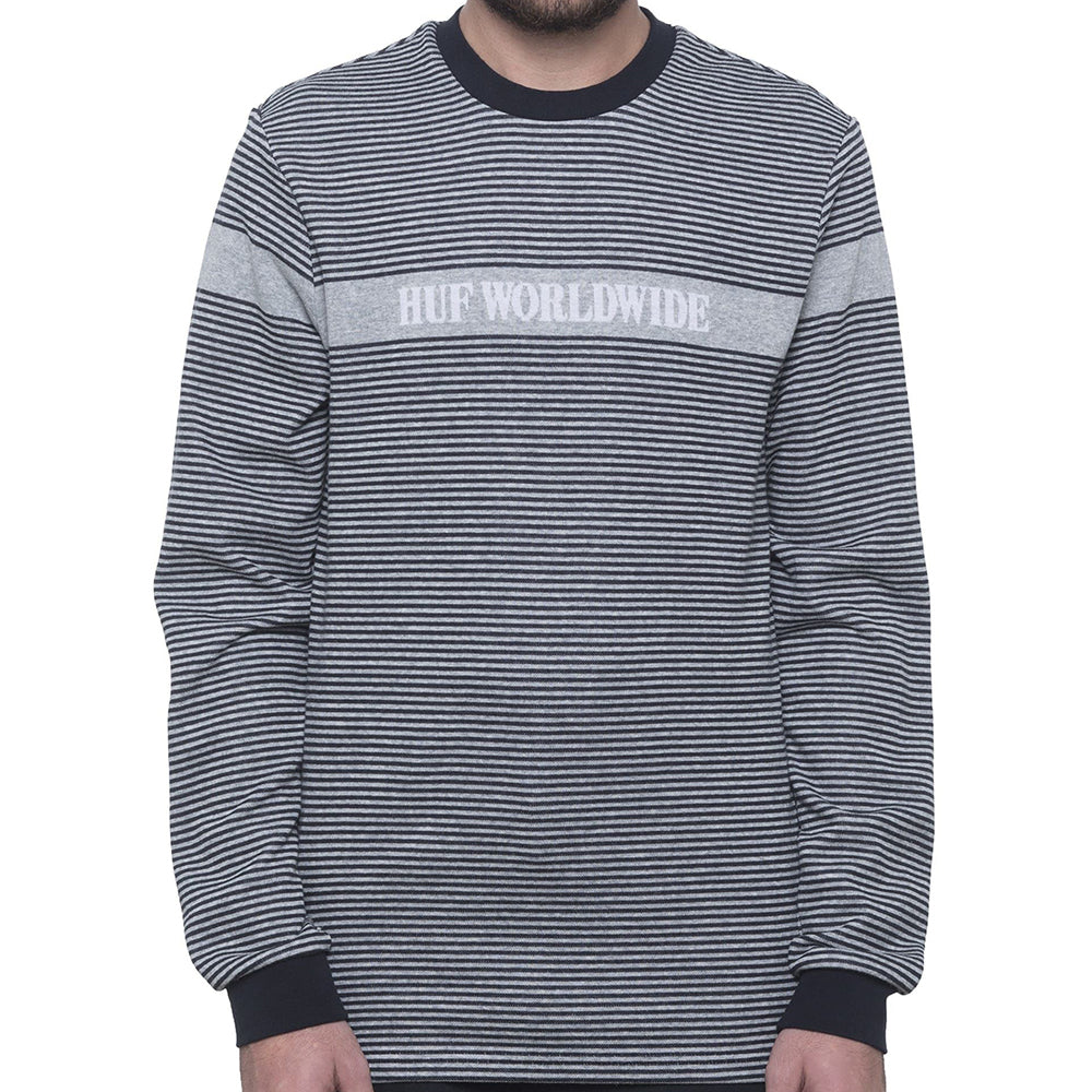 HUF Latitude long sleeve knit top black